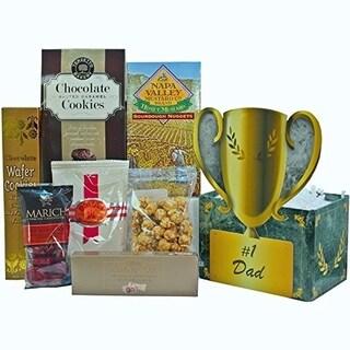 No. 1 Dad Food and Snacks Trophy Gift Basket - no1-dad