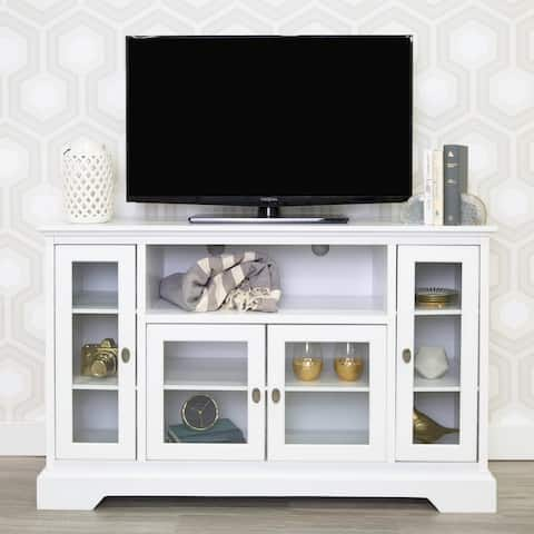 Middlebrook Designs 52-inch White Highboy TV Stand Console