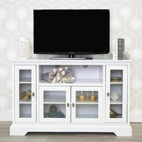 """52"""" Highboy TV Stand Console - White - 52 x 16 x 33h"""