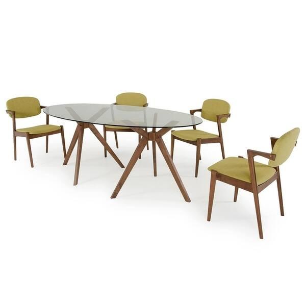 Modrest Skylar Modern Glass Oval Dining Table