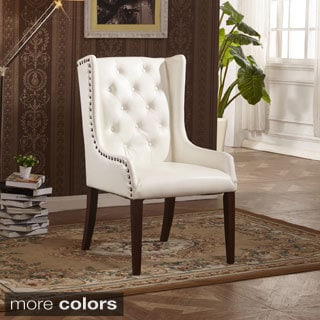 Classic Faux Leather Sloped Arm Dining Chair with Pillow