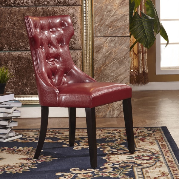 Shop Modern Faux Leather Parson Dining Chair (Set Of 2