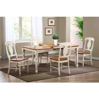 Iconic Furniture 5-piece Caramel Biscotti Rectangle Napoleon Dining Set