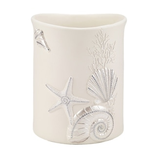 Avanti Sequin Shells Wastebasket