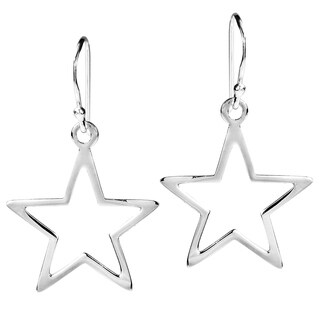 Handmade Symmetric Everyday Shining Star Sterling Silver Dangle Earrings (Thailand)