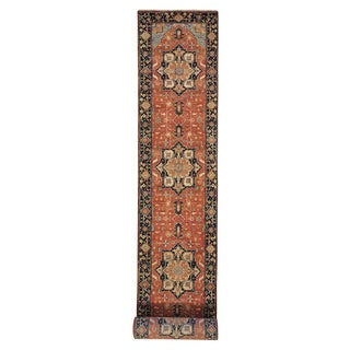 Handmade XL Runner Antiqued Heriz Recreation Oriental Rug (2'7 x 20'1)