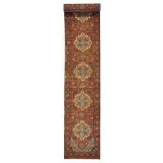 Handmade XL Runner Antiqued Heriz Recreation Oriental Rug (2'5 x 15'7)