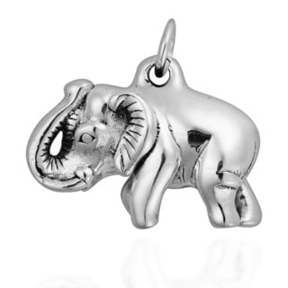 Thai Sawadee 3D Elephant Sterling Silver Pendant (Thailand)