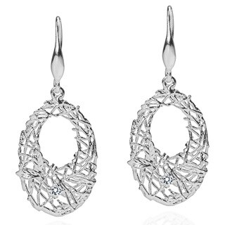 Nested Garden Cubic Zirconia Sterling Silver Earrings (Thailand)