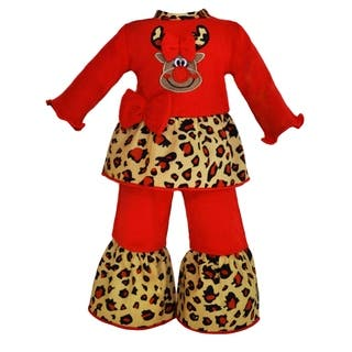 AnnLoren Red Nose Reindeer Christmas Outfit|https://ak1.ostkcdn.com/images/products/10298516/P17412291.jpg?impolicy=medium