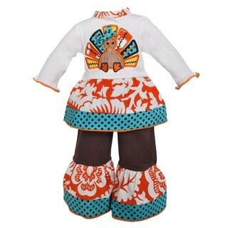 AnnLoren 2-piece Thanksgiving Wild Turkey Doll Outfit