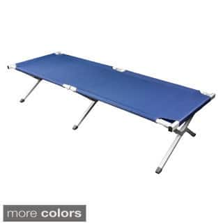 Deluxe Heavy-duty Military Folding Cot (500 pound capacity) https://ak1.ostkcdn.com/images/products/10298590/P17412388.jpg?impolicy=medium