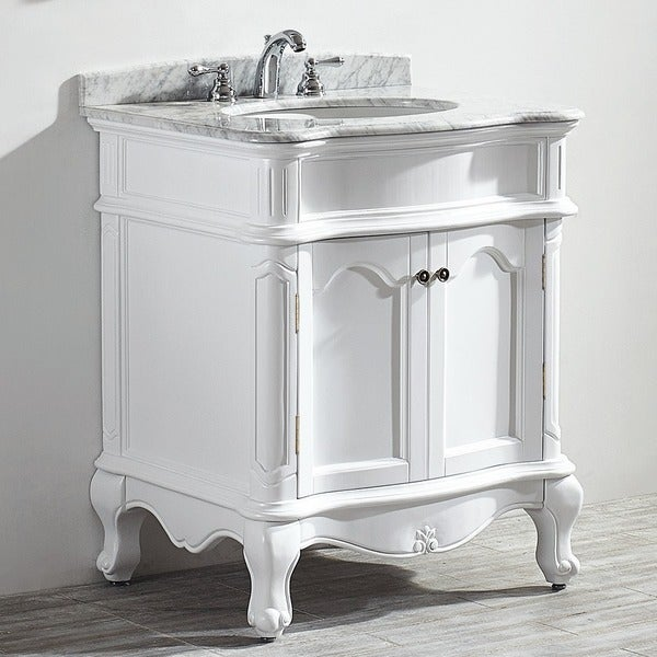 Vinnova Messina 30-inch Single Vanity in White with ...