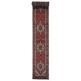 Hand-knotted XL Runner Serapi Heriz Rust Red Oriental Rug (2'6 x 19'9)
