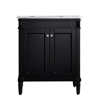 Catania 30-inch Espresso Single Vanity with Carrara White Marble Top
