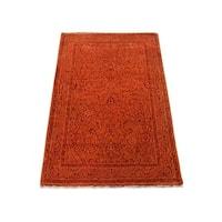 Handmade Tabriz Mahi Wool/ Silk Oriental Rug (2' x 3'2)