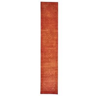 Handmade Runner Tabriz Mahi Wool/ Silk Oriental Rug (2'8 x 14'1)