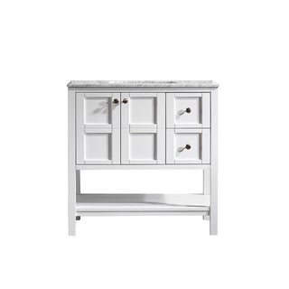 Vinnova Florence 36-inch White Mirrorless Single Vanity with Carrara White Marble Top|https://ak1.ostkcdn.com/images/products/10298661/P17412360.jpg?_ostk_perf_=percv&impolicy=medium