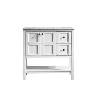 Vinnova Florence 36-inch White Mirrorless Single Vanity with Carrara White Marble Top|https://ak1.ostkcdn.com/images/products/10298661/P17412360.jpg?impolicy=medium