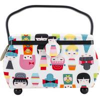 Sewing Basket Rectangle  12.75inX7.625inX7.75in Doll Print