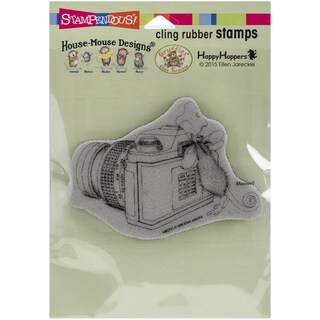 Stampendous House Mouse Cling Rubber Stamp 6.5inX4.5in Pkg Say Cheese