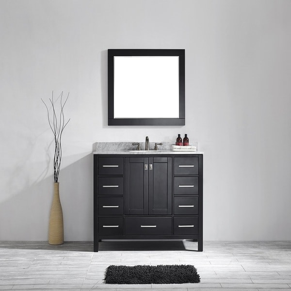 Vinnova Bologna 48 Inch Single Vanity In Espresso With Carrera White