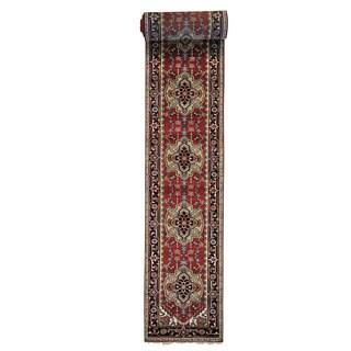Hand-knotted XL Runner Rust Red Serapi Heriz Oriental Rug (2'6 x 19'9)