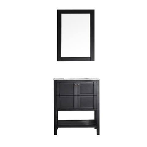 Vinnova Florence 30-inch Vanity in Espresso with Mirror