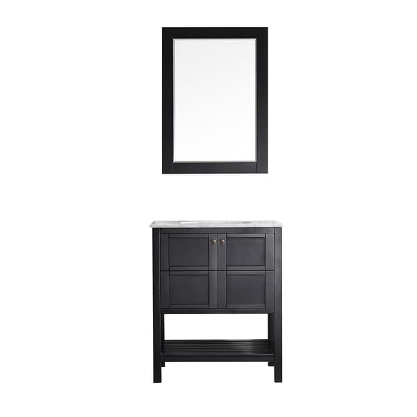 Vinnova Florence 30-inch Vanity in Espresso with Mirror. Opens flyout.