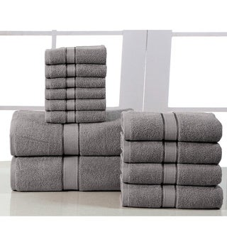 Elegance Spa Luxurious Cotton 600 GSM 12-piece Towel Set