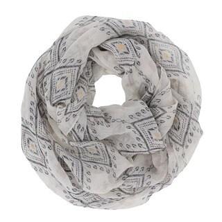 LA77 Foil Tribal Pattern Infinity Scarf