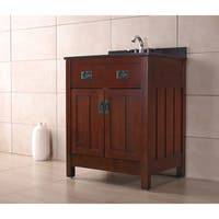 OVE Decors Cain 28-inch Dark Walnut Singe Sink Bathroom Vanity
