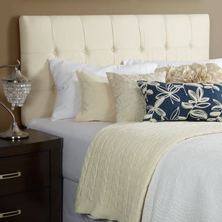Humble + Haute Stratton King Ivory Linen Tufted Upholstered Headboard