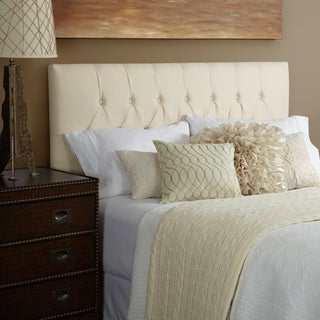Humble + Haute Halifax King Ivory Linen Tufted Upholstered Headboard
