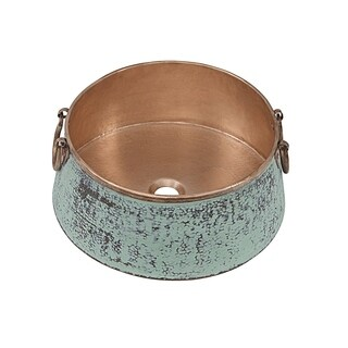 """Sinkology Noble 16"""" Old World Copper Vessel Sink"""