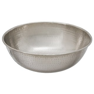 "Sinkology Bohr 14"" Handcrafted Hammered Nickel Vessel Sink"