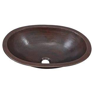 "Sinkology Wallace 19"" Dual Mount Handmade Copper Bathroom Sink