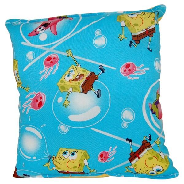 sponge bob square pants reversible 11 inch x 10 inch throw pillow