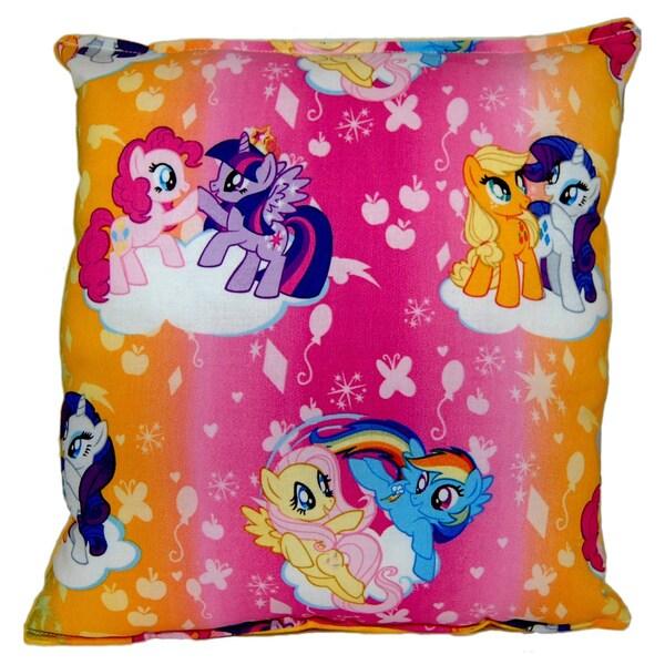 My Little Pony Rainbow Reversible 11-inch x 10-inch Throw Pillow
