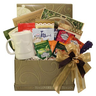 Tea Lovers Care Package Snacks and Treats Gift Box with Mug
