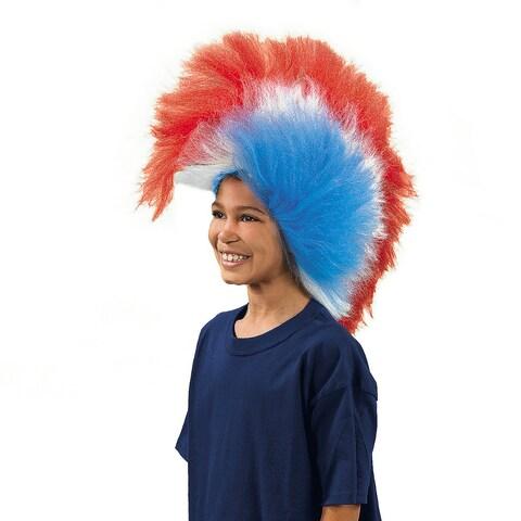 Patriotic USA Mohawk Wig Costume Accessory