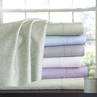 Pointehaven 100 Percent Cotton Extra Deep Pocket Tone-on-Tone Printed Sheet Set https://ak1.ostkcdn.com/images/products/10299177/P17412878.jpg?impolicy=medium