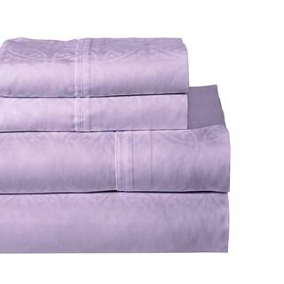 Pointehaven 300 Thread Count Cotton Tone-on-Tone Printed Sheet Set