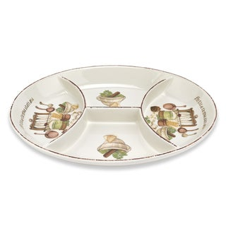 Italian Cucina 16-inch 4-section Dish