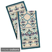 Celebration 72-inch Jute Moroccan Print Table Runner