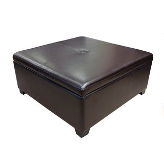 Corbett Bonded Leather Coffee Table Storage Ottoman