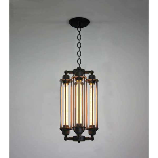 Cassidy 4 Light Black 20 Inch Edison Chandelier With Bulbs