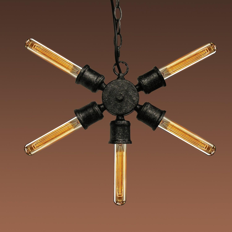 Warehouse of Tiffany Piper 5-light Black 7-inch Edison Ch...