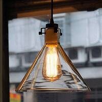Annie 1-light Adjustable Height 9-inch Edison Pendant with Bulb