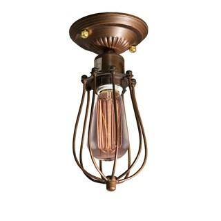 Kinsey 1-light Antique 5-inch Edison Flush Mount with Light Bulb